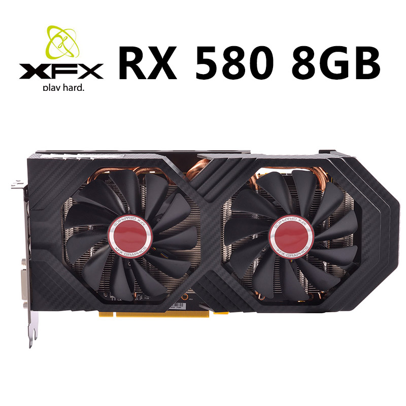 XFX Graphics Cards Pc Gaming Desktop GDDR5 Used Not-Mining Rx 580 8GB 256bit title=