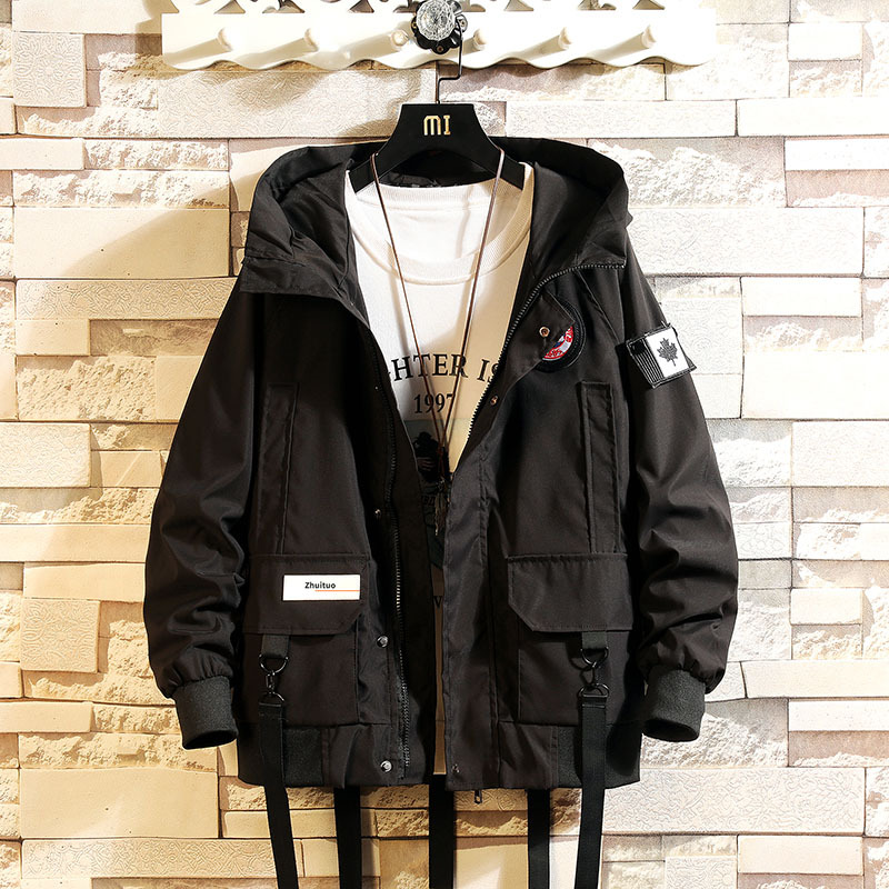 New Style Spring And Autumn Japanese-style BOY/'S Workwear Coat BF Hong Kong Style Loose Version Tops Casual Fashion Jacket