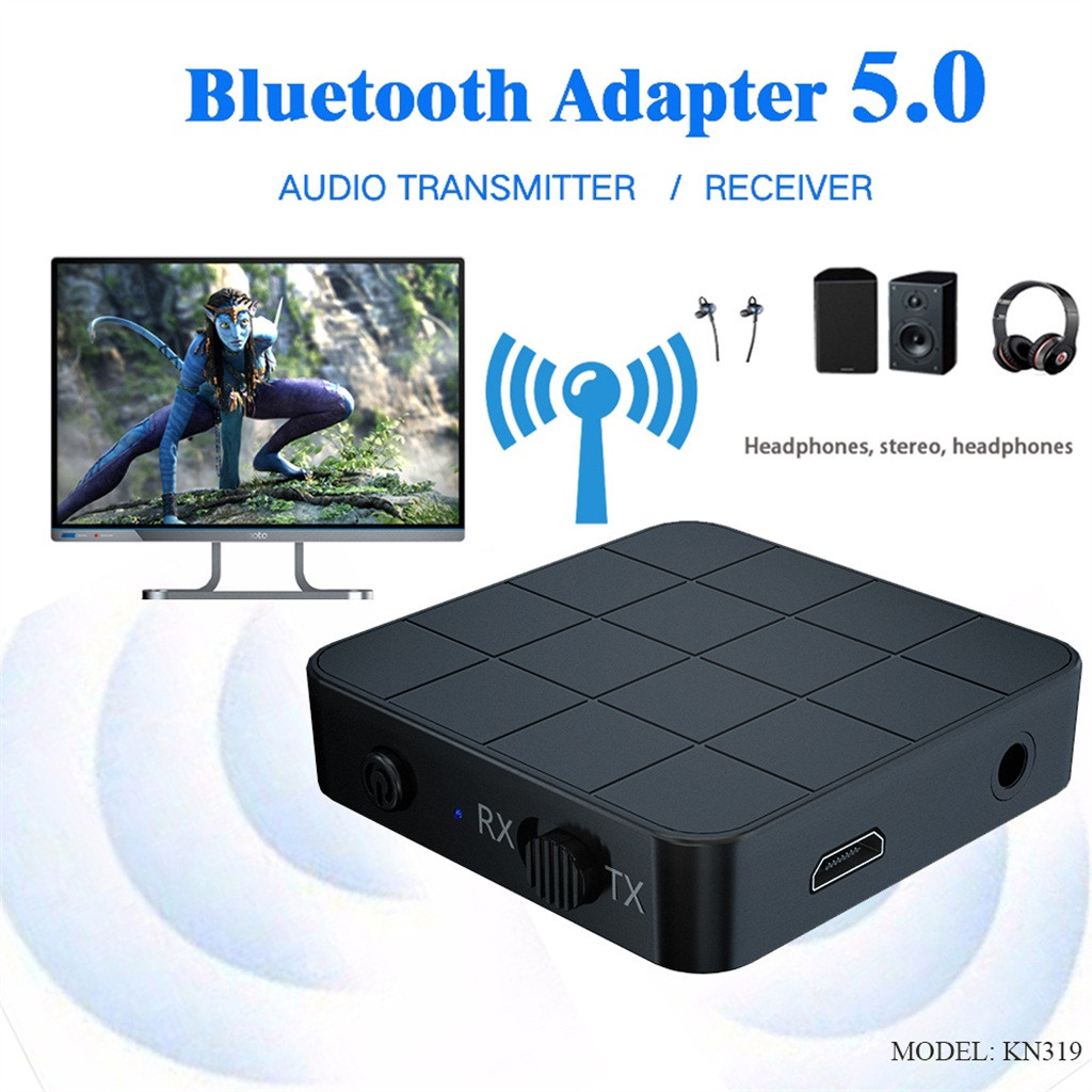 USB Bluetooth Receiver 3.5 Audio Transmitter 2 in 1 Adapter For TV/PC Headphone