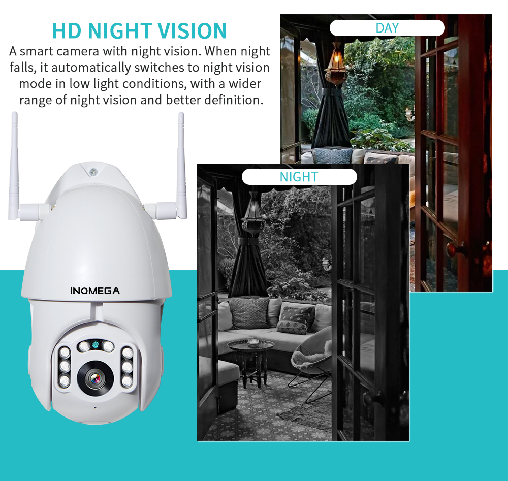 1080P Tuya Auto Tracking Wifi Camera IP WiFi Security Home PTZ Speed Dome CCTV IR Onvif Outdoor With Goole Home Or Alexa