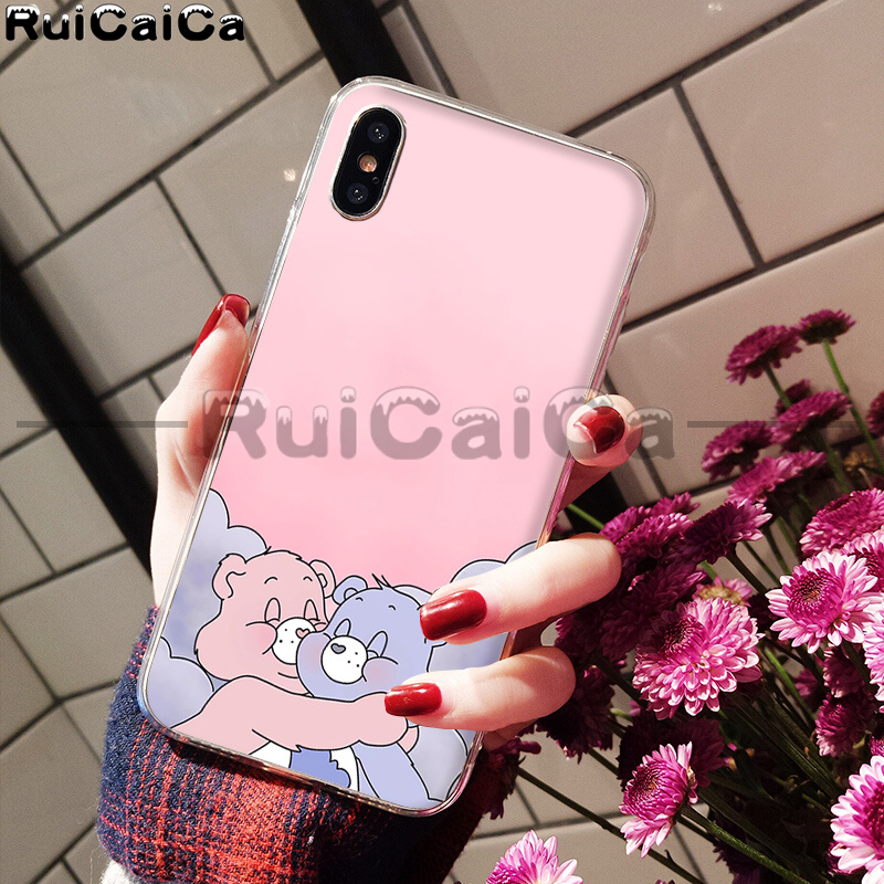 Pink Lovely Care Bears rainbow Cute