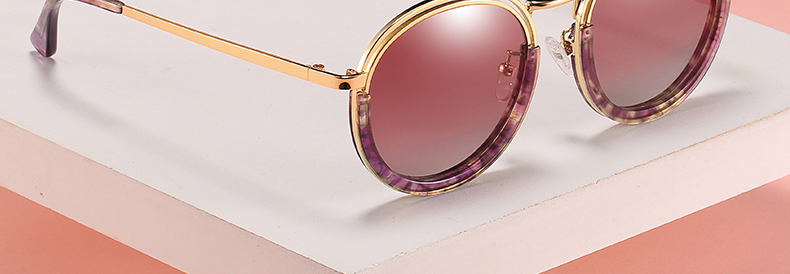 Sunglasses Women Vintage Round Sun Glasses Polarized Lens UV400 Anti Reflective Summer Polarized Women Snnglasses (9)