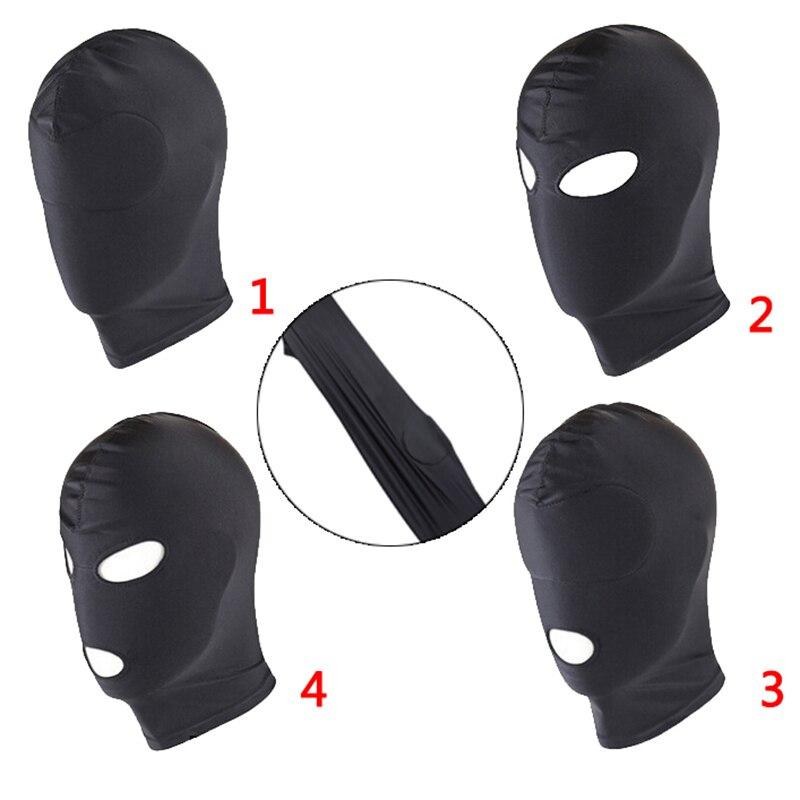 Erotic Restraint Head Hood Eye Mask for Couples 4Style BDSM Headgear Couples Cosplay Slave Bondage Unisex Adult Cosplay Sex Toys