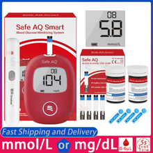 Smart-Blood-Glucose-Meter Monitor Test-Strips Lancets Safe Aq Accurate 5s-Test Diabetes