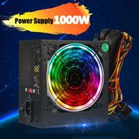 1000W 115~230V Power Supply PSU PFC 12cm LED Silent Fan ATX 24pin 12V PC Computer SATA Gaming Supply For Intel AMD Desktop