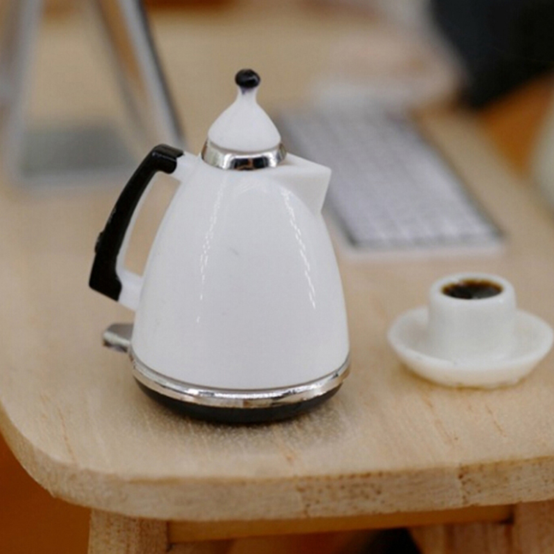 1:12 Simulation Coffee Cup/coffee Pot Mini Furniture Dollhouse Kettle Pot Miniature Kitchen Kettle Toy Pot Dolls Decorations
