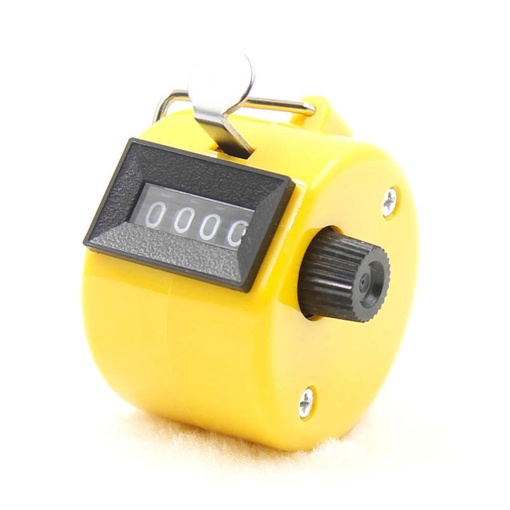 Oficina portátil Pantalla LCD números de 5 dígitos Contador de clic de conteo Negro Amarillo