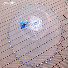 Network Hand-Throwing Fishing-Net Nylon-Line Folding Lawaia Monofilament Aluminum 240cm-720cm