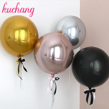 Bobo Balloon Festival-Supplies Helium Birthday-Party Metal Wedding Gold 1pc Round 18/22/32inch