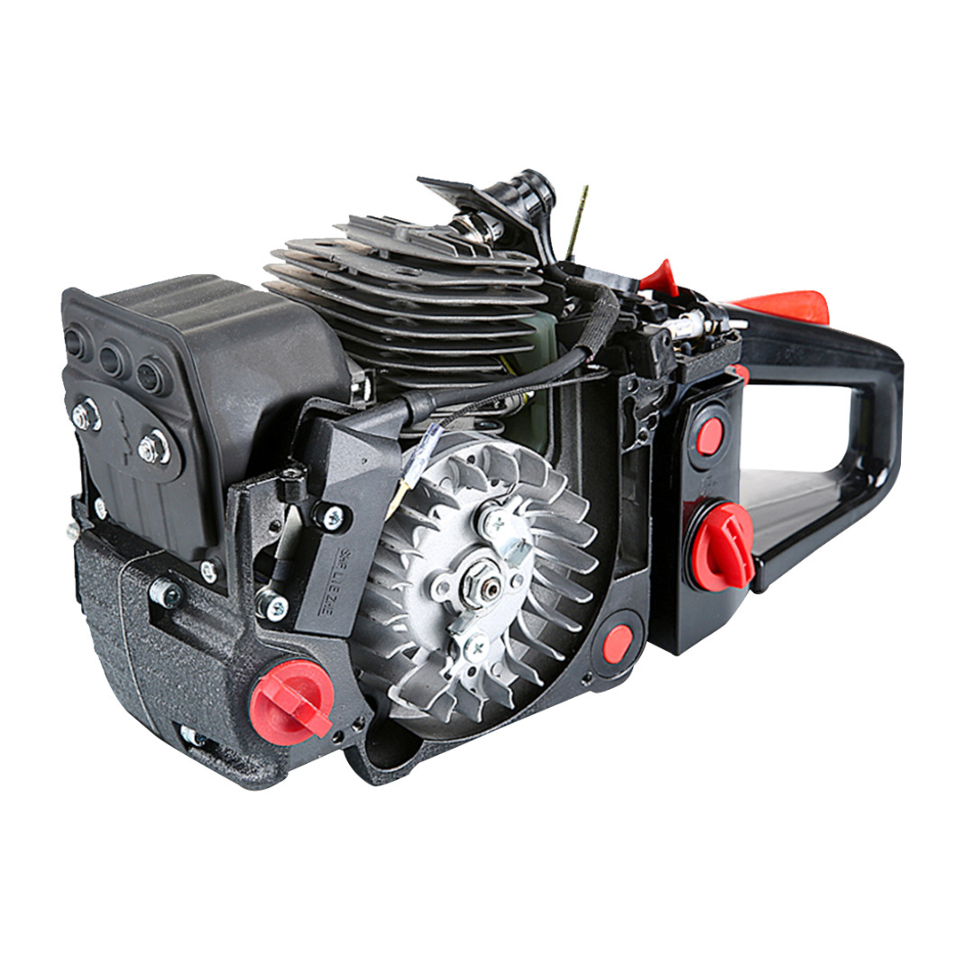 Black 20'' Bar 62CC More Power Gasoline Chainsaw Petrol Powered Wood Cutting Chain Saw 2-Stroke Less Noise Durable