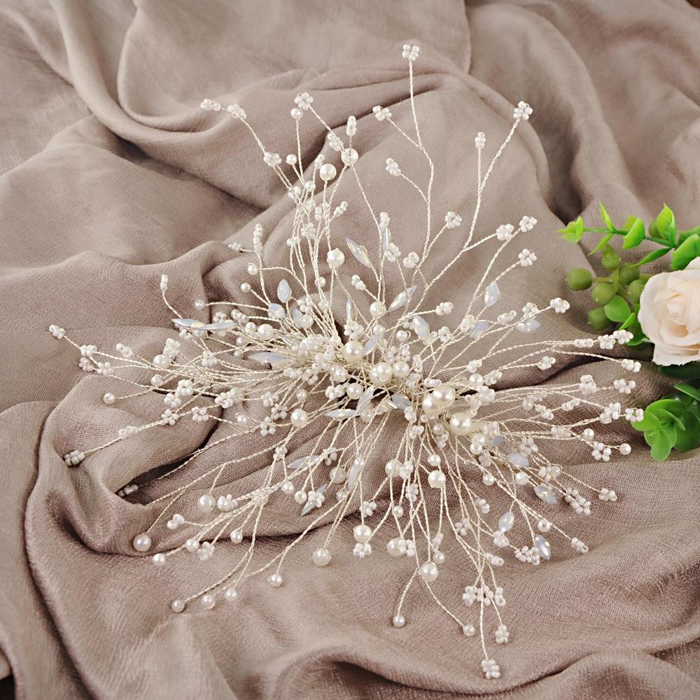 ZMHP230 Wedding Hair Jewelry Bridal Hair Tiara Wedding Hair Accessories Bridal Accessories Wedding Headwear Hairband for Women