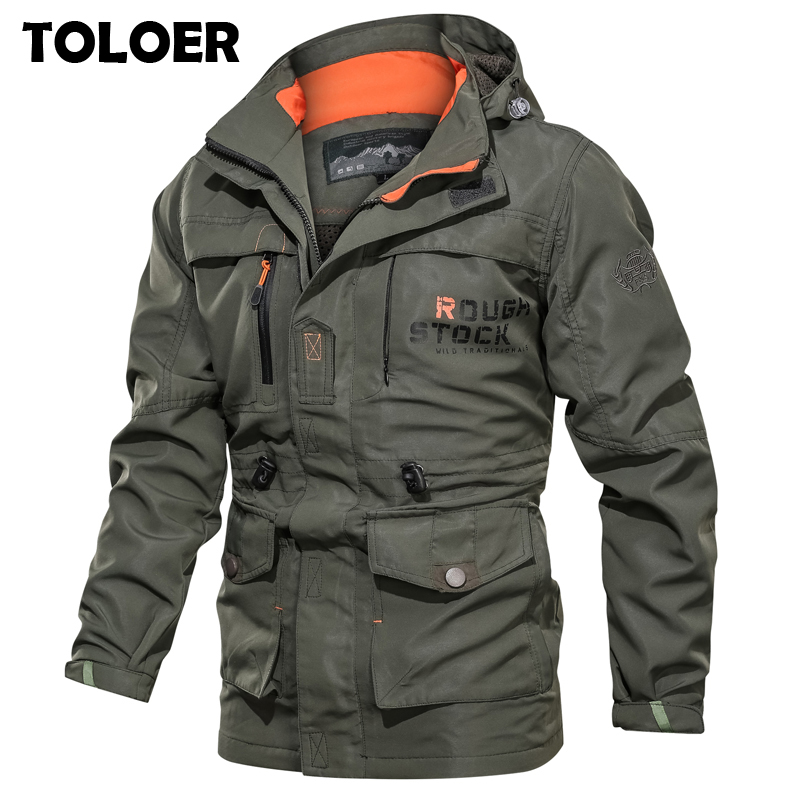 Coats Bomber-Jacket Tactical-Jackets MA1 Autumn Waterproof Army-Multi-Pocket Winter Men's title=
