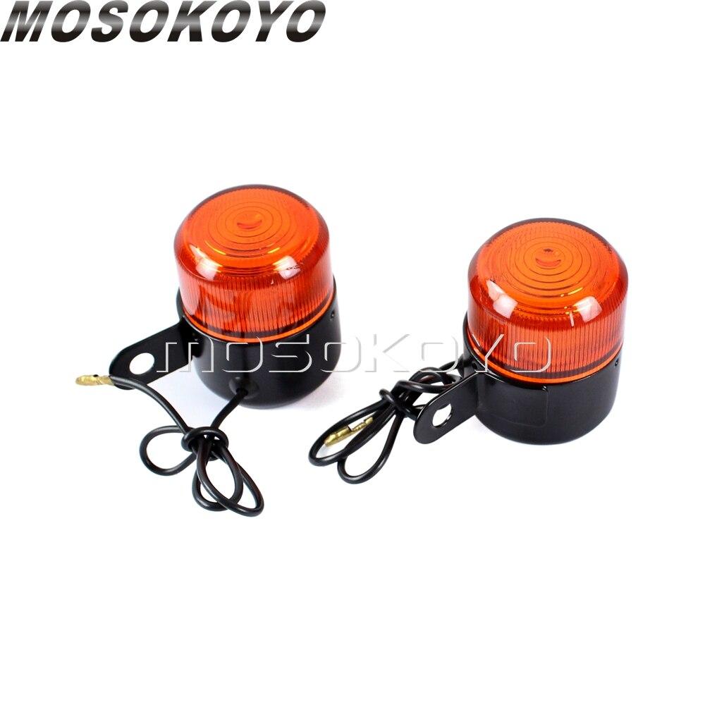 Vélo Noir Turn signals Orange Feux Indicateurs Clignotant Lampe Pour Honda Z50 ST50