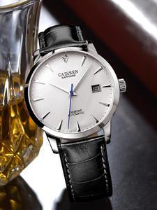CADISEN Men Watch Wrist Clock Automatic Real-Diamonds Luxury Brand Hot Famous Male