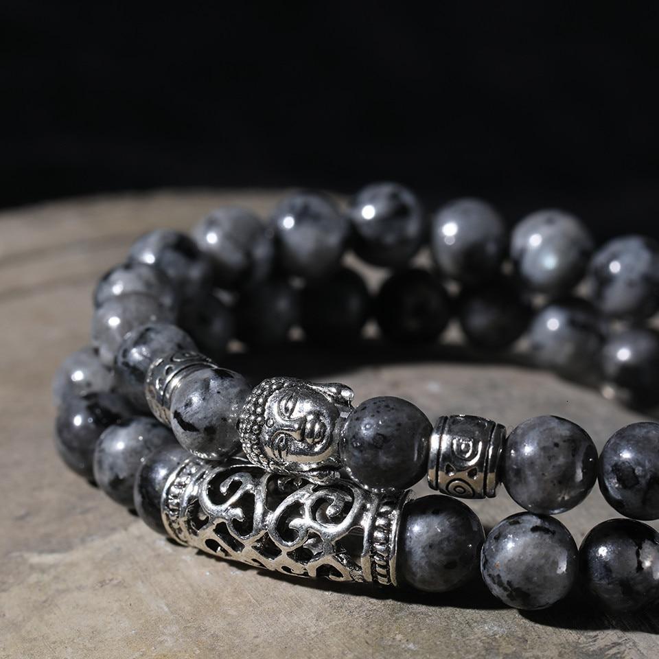 12 Style Black Lava Stone Prayer Beads Buddha Men Bead Bracelet Tiger Stones Beaded Bracelets for Women and Mens Male 2pcsSet  (41)