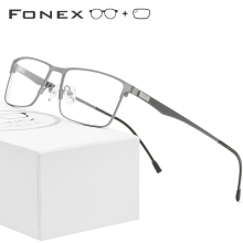 FONEX Prescription-Glasses Optical-Screwless Frame Myopia Ultralight Eyewear Metal Alloy