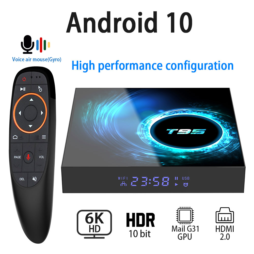 Set-Top-Box Media-Player Netflix Wifi Youtube Android 10.0 H616 1080P 4K H.265 6K 4GB title=