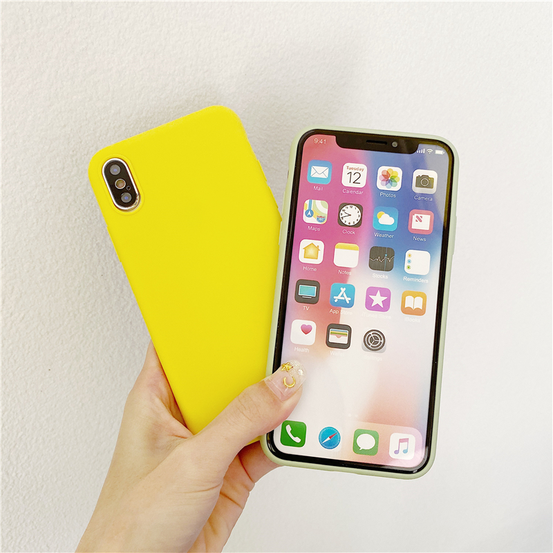 Yellow Matte Clear TPU Case For Xiaomi Redmi 4A 4X 5 6A 7 8 Note 6 Pro GO S2 Y2 K20 Silicone Soft Cover