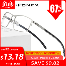 Prescription Eyeglasses Optical-Glasses-Frame Square Myopia Full-Screwless-Eyewear Metal