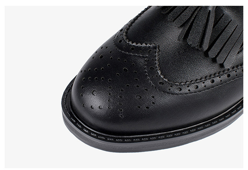 New British Carved Oxford Shoes For Woman Korean College Slip On Student Flats Brogues Shoes Retro Tassel Casual Women's Loafers (20)