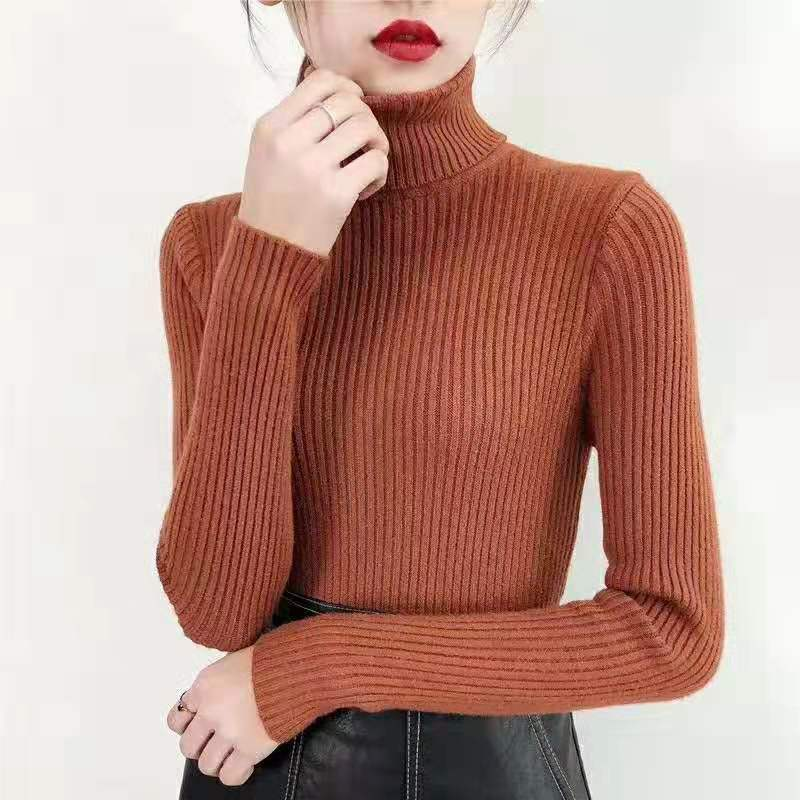 19 Women Sweater casual solid turtleneck female pullover full sleeve warm soft spring autumn winter knitted cotton 15