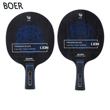 Table-Tennis-Blade Ping-Pong-Racket Group-Fiber Aryl Long-Grip BOER New 7 7-Ply Lightweight