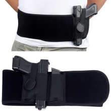 Pistol Holster Concealed Girdle-Belt Carry-Gun Elastic Tactical Handguns Right-Left Waist