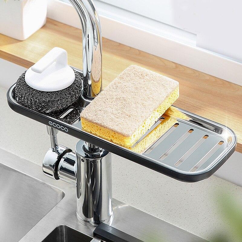 Schwämme Halter Rack Trocknungsbecken Waschbecken Küche Badezimmer Q5Y6