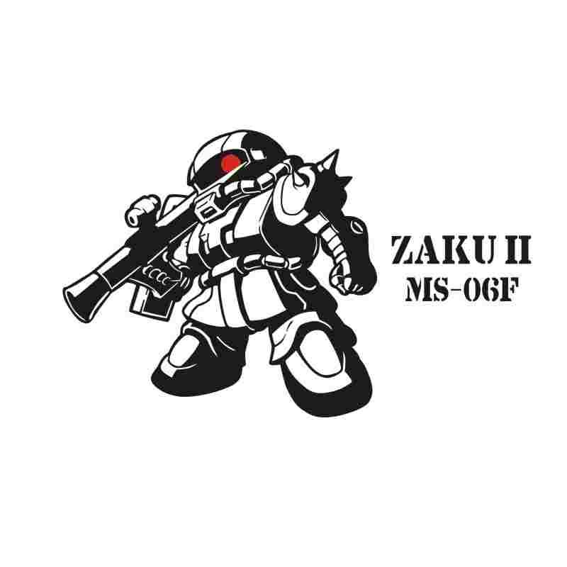 Pegatina GUNDAM Sticker Anime Cartoon Car ZAKU II Decal Sticker Vinyl Wall Stickers  Decor Home Decoration