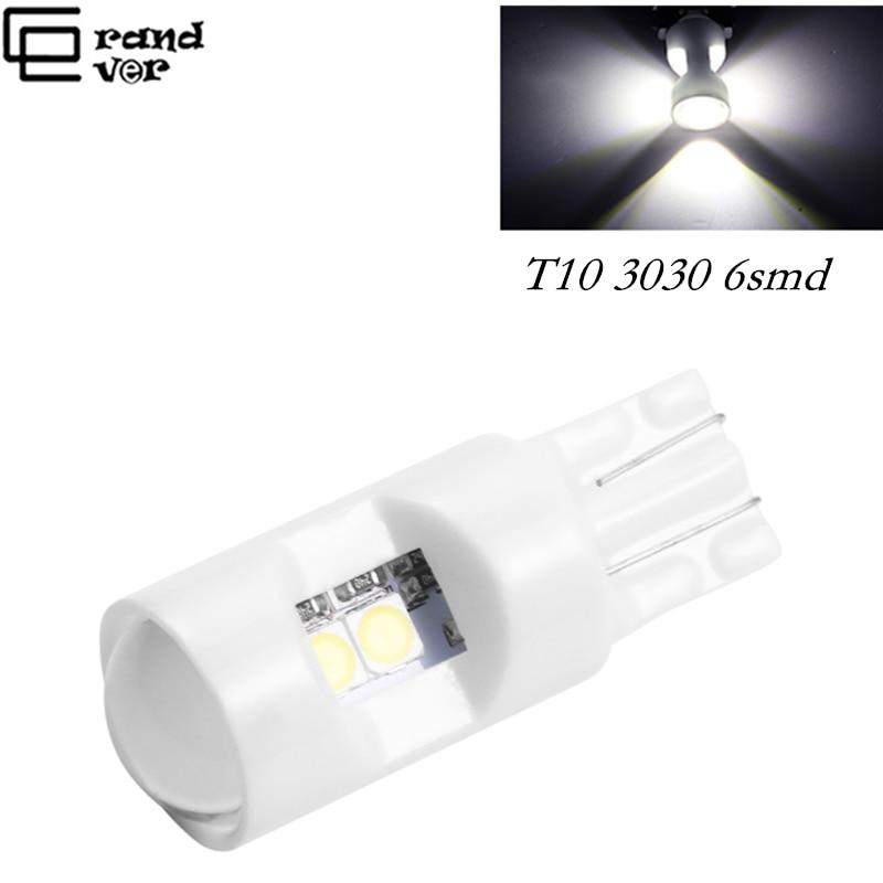 10Pcs T10 6SMD LED Car Width Lamp//Reading Light//Roof Light//License Plate Lights