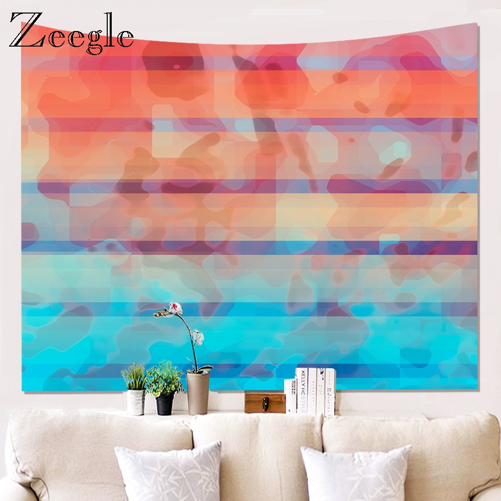 Zeegle Natural Forest Printed Large Wall Tapestry Cheap Hippie Wall Hanging Wall Tapestries Poylester Wall Art Decor Picnic Mat