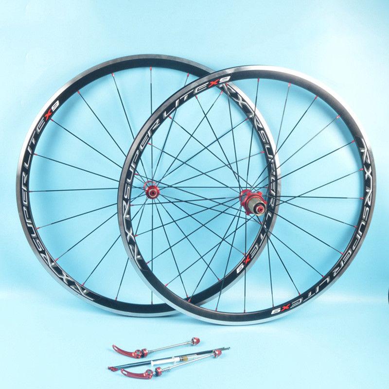 RXR 700C Bike Wheelset Carbon Hub Road Bike Bicycle F&R Wheels Wheelset Clincher Sealed Bearings 7-11 Speed V Brake (2)