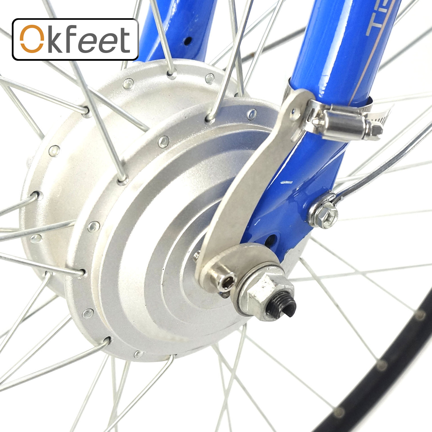 Okfeet Bike-Conversion-Kit Part-Accessories Motor-Torque V-Disc-Brake Electric-Bicycle title=