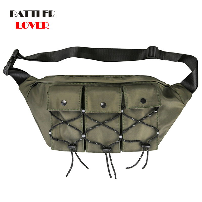 Men Function Tactical Chest Bags Male Reflective Messenger Bag Female Phone Shoulder Bags Women Chest Pack High Capacity Pockets