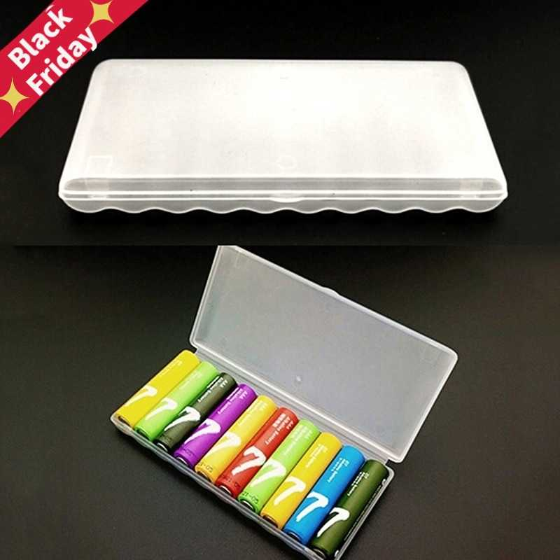 Portable Plastic Battery Case Cover Holder Storage Box For 10Pcs AAA Batteries Storage case for 10pcs AAA battery