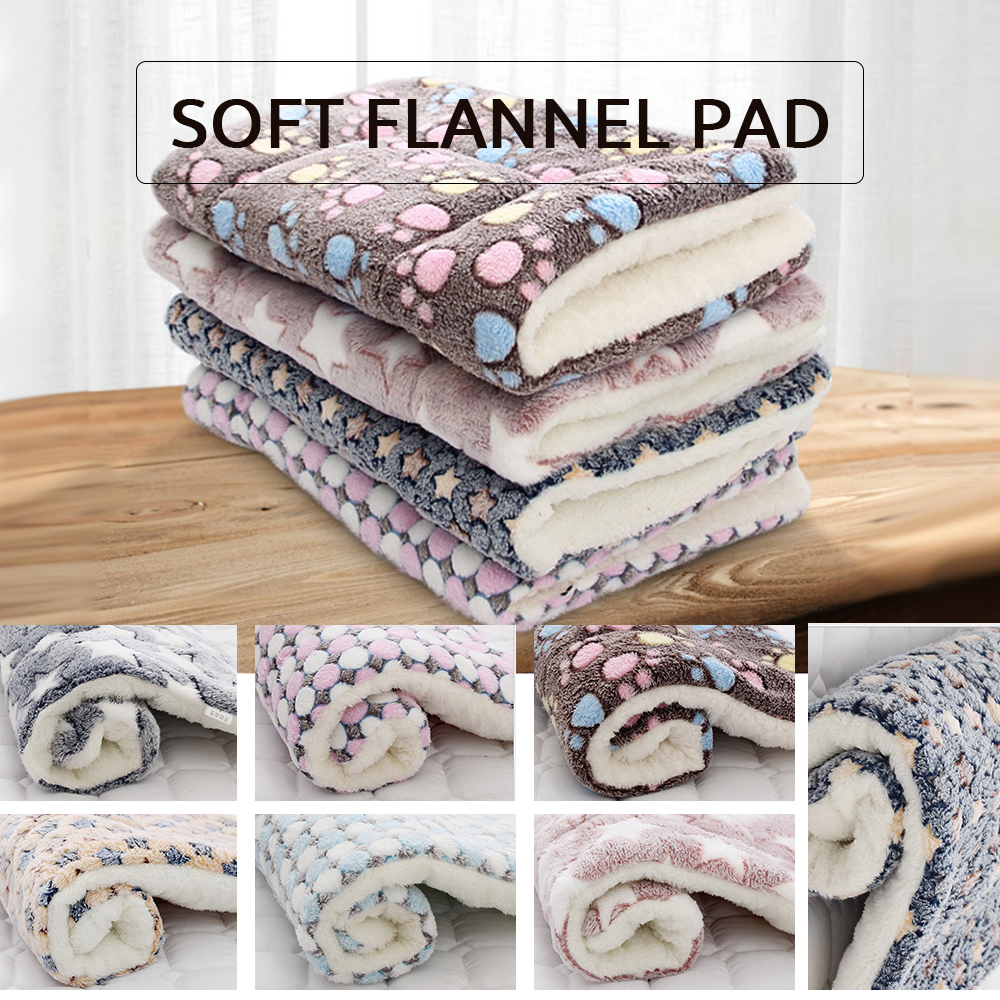 Glumes Soft and Comfortable Pet Blanket Bone Printing Warm Fleece Blanket Sleep Mat Pad Bed Cover Suitable for Puppy Dog Cat Ideal