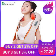 Jinkairui Electrical-Shiatsu-Massager Roller Shawl Multi-Function U-Shape Pain-Neck Shoulder