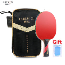 Bat Paddle Table-Tennis-Rackets Rubber Ping-Pong Huieson Profession Powerful Double-Pimples-In