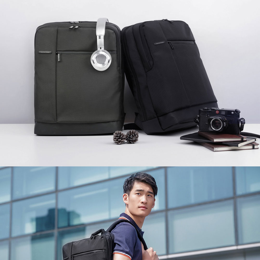 Original Xiaomi Backpack Classic Business Backpacks 17L Capacity Students  Laptop  Men Women Bag  For 15-inch Laptop OK (1)