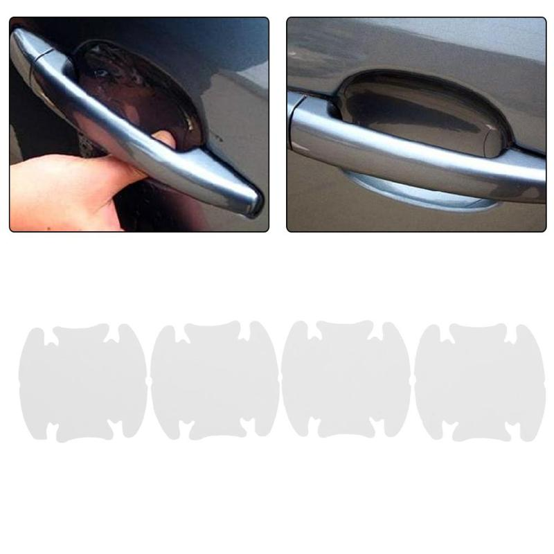 4PC Car Door Handle Scratches Guard Protector Sticker Protective Cover Film title=
