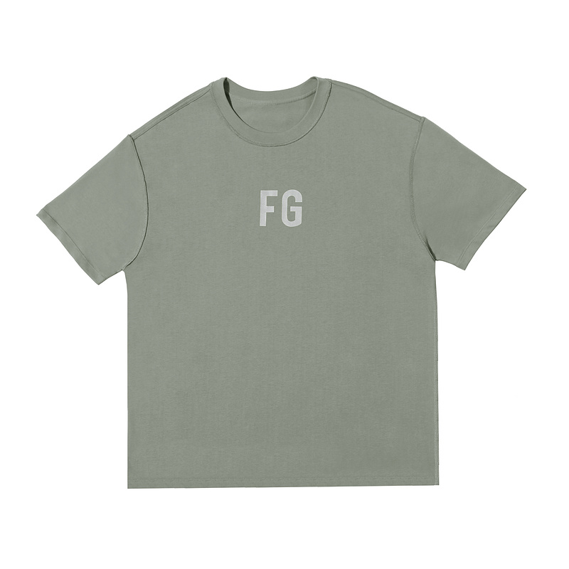 2020 New Sixth Collection Olive Green FOG T-Shirt Men Women Oversized HipHop FG Reflective 100% Cotton T Shirt