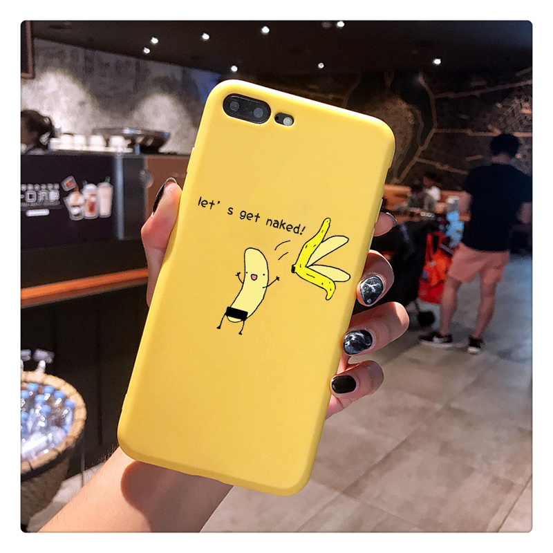 THE Simpson Candy Color TPU Case phone Cartoon Finger Funny Banana For iphoneX 7 8 XS XR XSMAX Animals CASE Cover