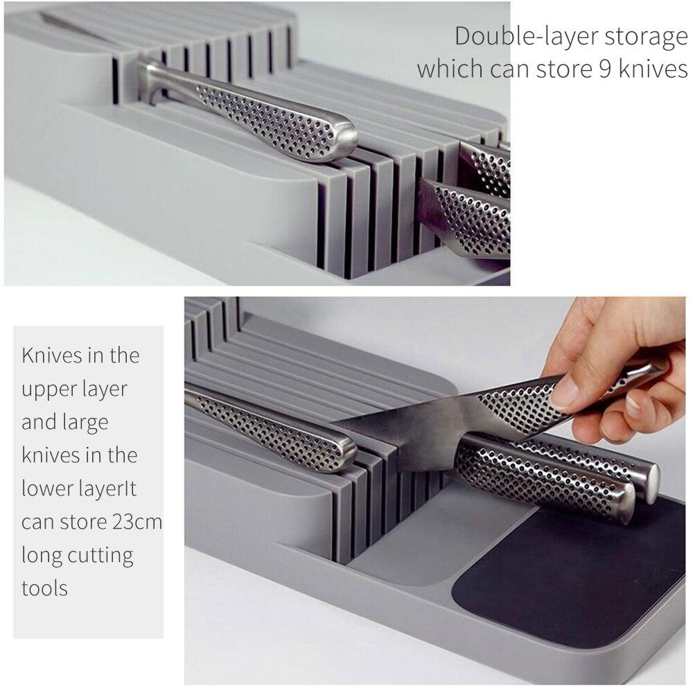 Zonfer Besteck Organizer Kunststoff Storage Rack Ablassen Block-besteckhalter Bestecke Organizer