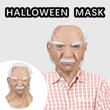 Mask Old Man Interesting Toy Funny Halloween Holiday Supersoft Elder Me-The Creative