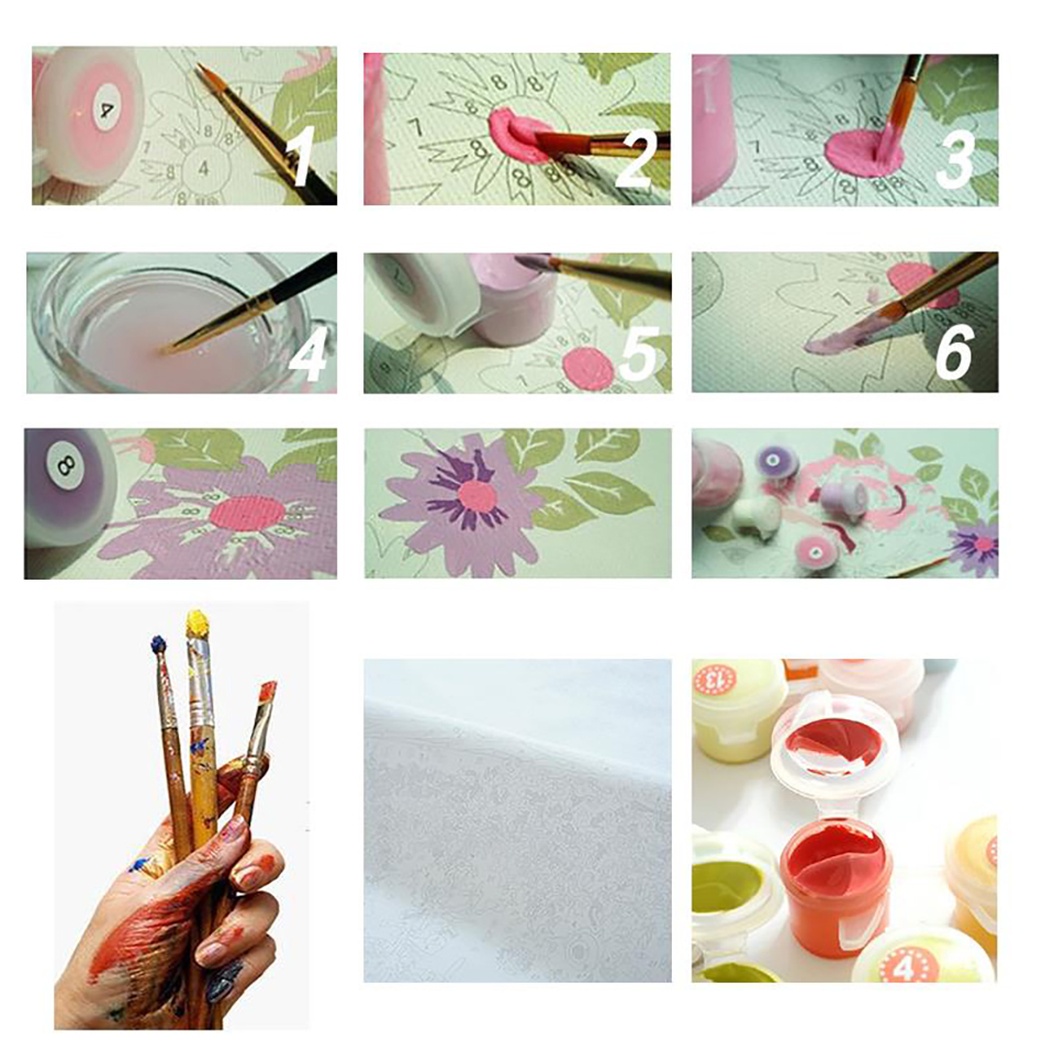 Peacock DIY Painting By Numbers Kits Calligraphy Painting Acrylic Paint By Number For Home Decoration A work of art