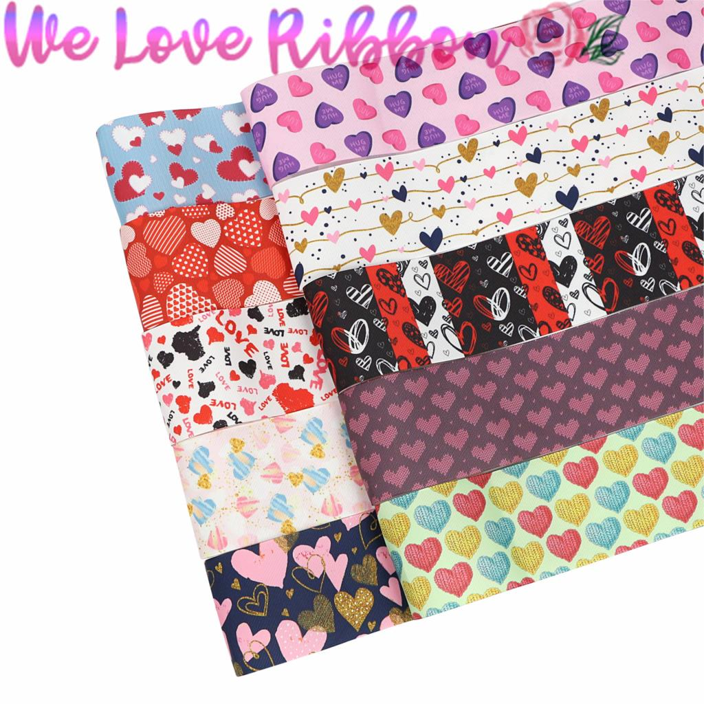 Love Words Hearts Valentine/'s Day hearts printed grosgrain ribbon 2m