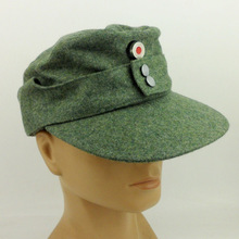 Cap Badge WWII Ww2 German Military-Store Hat with M43 Wool-In-Size Reproduction