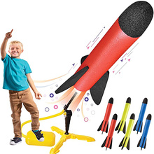 Kid Air Pump Jump Stomp Blower Foam Gun Model Launch Launcher Rocket Pop Up Toy Sports Toys For Boys Kids Children Baby Girls