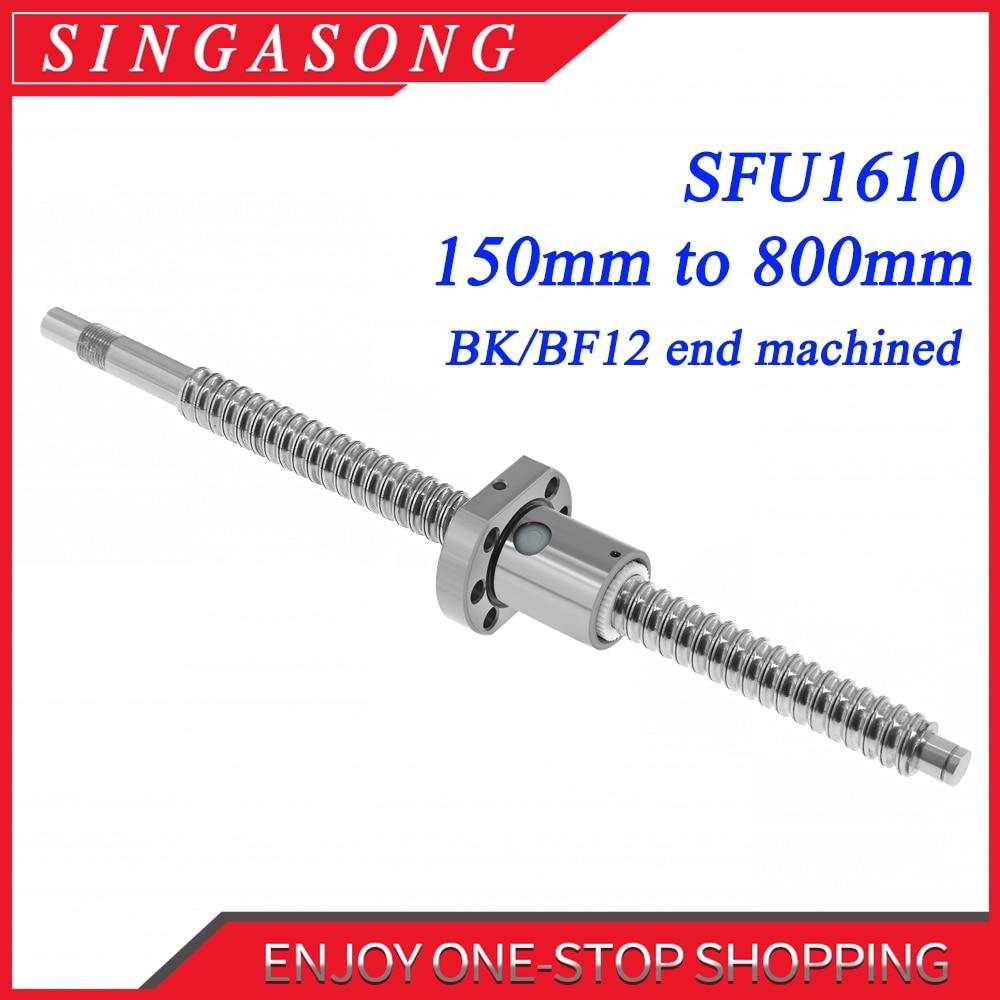 2 Set RM1610--500mm Ballscrew /& 2 RM1610 ball Nut End Machine