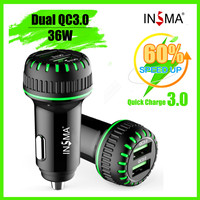 INSMA 36W Q C 3.0 USB Car Charger For Mobile Phone Tablet GPS Fast Charger Car Charger Dual USB Car Phone Charger Adapter